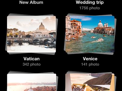 Photo App Concept dark theme application black photo trevel project product mobile ux ui sketch app ios iphone interface design