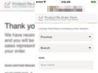 Mobile order form