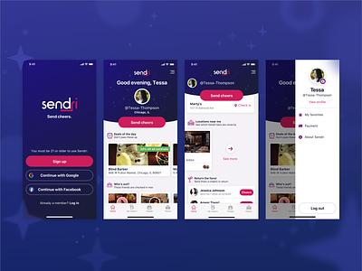 Sample App Screens illustration dark ios branding app ui mobile