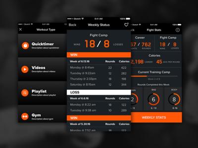 Boxing & CrossFit App Design