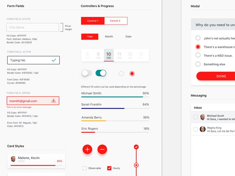 Mobile UI Kit  mobile style guide ui ui kit