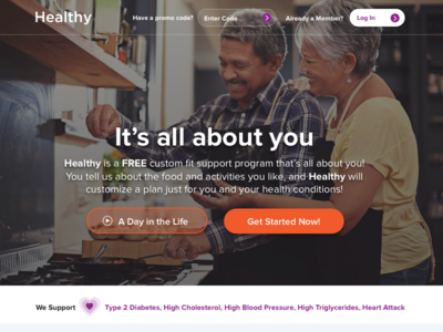 Healthy Website Homepage