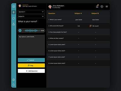 Interpreter Dashboard Portal desktop portal questions ui dashboard