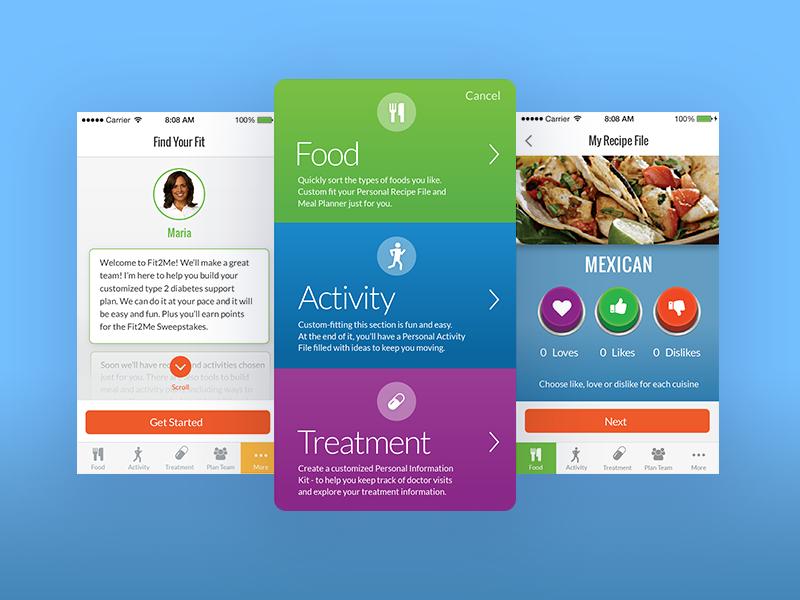 Diabetes App treatment activity food ios app health