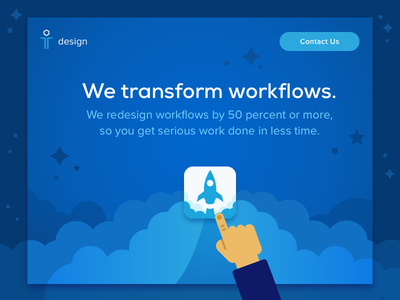 Hero Image rockets workflows transform hero web