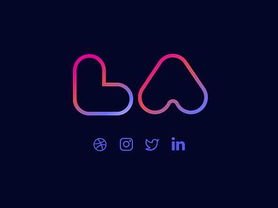 Lindsay Logo monogram portfolio logo la branding personal