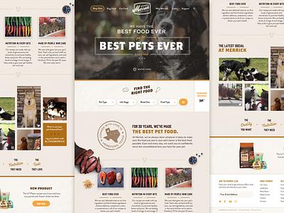 Merrick Website Concept pet food merrick website pets web