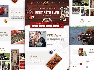Merrick Website Concept 2 merrick pet design pet food pets ui  ux ui web