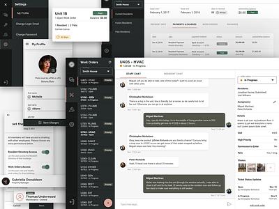Material Resident Dashboard profile unit cards sidebar menu mobile sidebar list admin chat material design material dashboard
