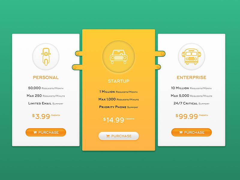 Pricing Table pricing table pricing graphic