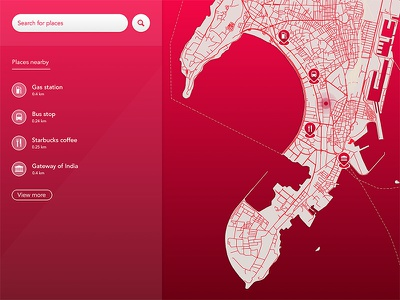 Find Places search red places maps