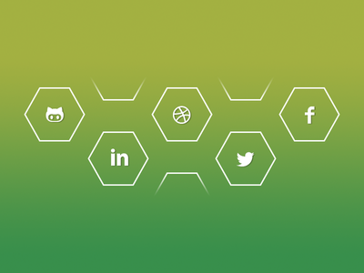 Social Links links linkedin dribbble github twitter facebook social