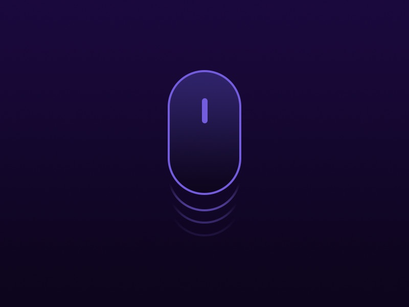 Mouse Scroll minimal futuristic scroll mouse