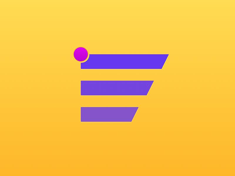 Menu with notification pink purple minimal clean notification menu