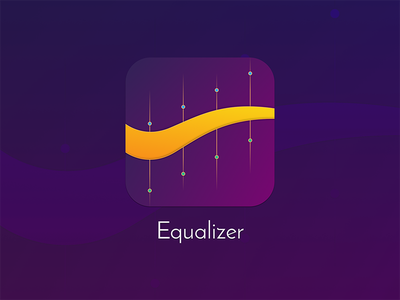 Equalizer Icon music purple ios icon equalizer
