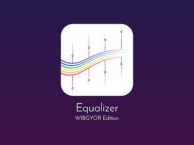 Equalizer Icon - WIBGYOR Edition colorful wibgyor music purple ios icon equalizer