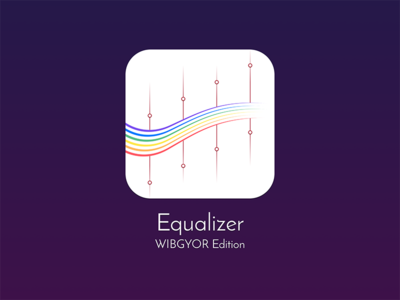 Equalizer Icon - WIBGYOR Edition