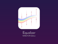 Equalizer Icon - WIBGYOR Edition