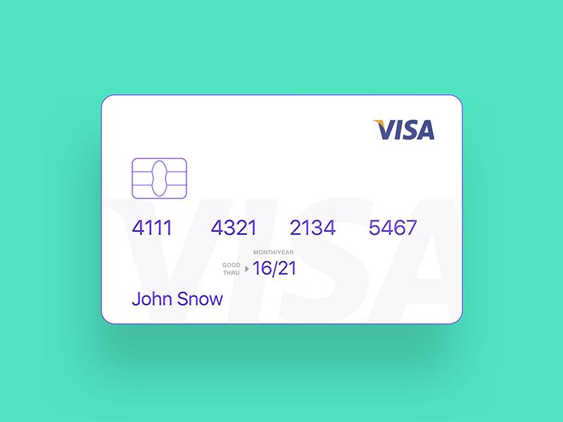 Credit card minimal