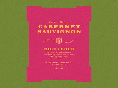 Cabernet Sauvignon liquor alcohol wine identity branding badge typography mark type design