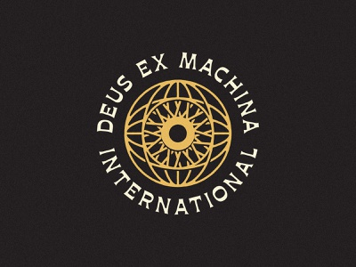 Deus Ex Machina - Entry 3 retro vintage eye wheel tshirt deusexmachina deus icon design identity badge branding typography mark logo type
