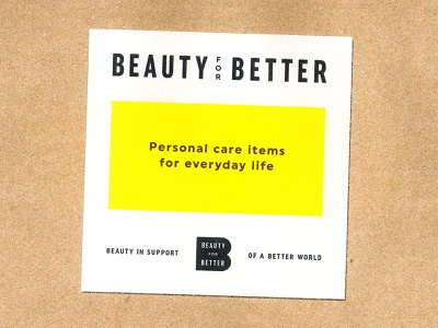Beauty for Better packaging skincare cosmetic beauty paperbag design identity mark branding typography logo type