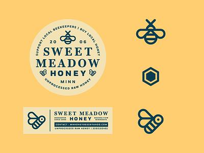 SMH WIP mark logo icon label tag badge honey bee bee sweet meadow honey