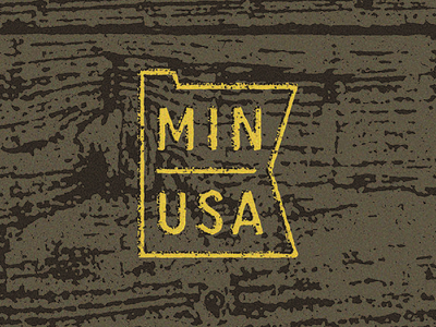 Posters for Parks Detail 2 woodgrain wood usa minnesota typography design grunge badge symbol mark icon type logo