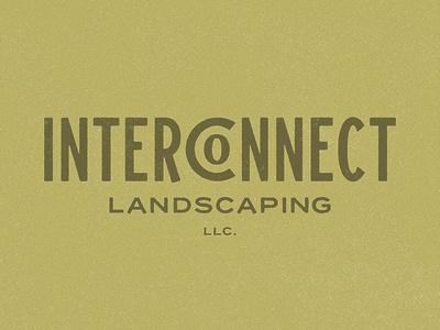 Landscaping Co. company landscaping logotype design identity branding typography minnesota grunge badge type logo