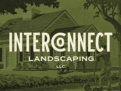 Landscaping Co. Final vintage retro company landscaping vector illustration design brand id identity branding typography minnesota grunge type logo