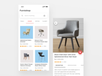 Furniture online shop design