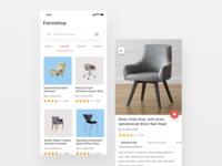 Furniture online shop design
