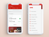 UMS (Uzbekistan) mobile app concept