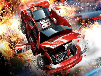NASCAR Bashers nascar promotional hero card