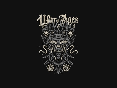 Dragon - War of Ages bandart teesdesign appareldesign graphicdesign merchdesign merch clothing design bandmerch apparel