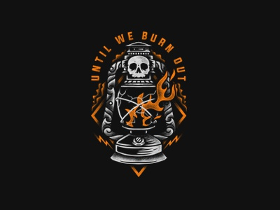 Until We Burn Out simple merch graphicdesign design clothing bold bandmerch apparel