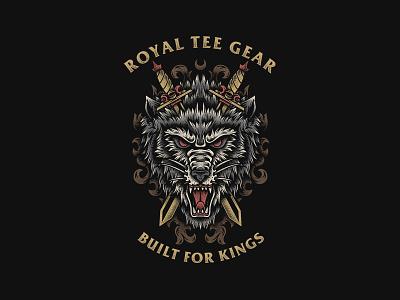 Wolfs - Royal Tee Gear teesdesign merchdesign graphictee bandmerch bandart appareldesign apparel
