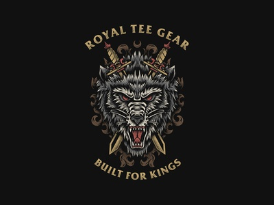 Wolfs - Royal Tee Gear teesdesign merchdesign graphictee bandmerch bandart appareldesign apparel