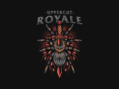 Tarantula - Uppercut Royale teesdesign merchdesign graphictee bandmerch bandart appareldesign apparel