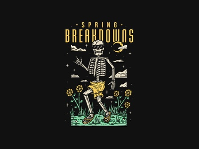 Spring Breakdowns - Ohio Core printing co illustration custom printing brand artwork band graphictee teesdesign bandart appareldesign graphicdesign merchdesign merch clothing design bandmerch apparel