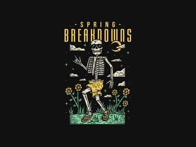 Spring Breakdowns - Ohio Core printing co illustration custom printing brand artwork band graphictee teesdesign bandart appareldesign graphicdesign merchdesign merch clothing design bandmerch apparel