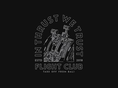 In Thrust We Trust - Flight Club graphicdesign band illustration appareldesign merch merchdesign design clothing apparel bandmerch
