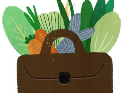 a bag of vegetables