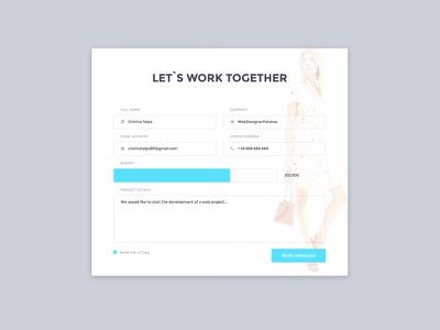 Contact Form work contactus ui corporate minimal clean web layout contact forms