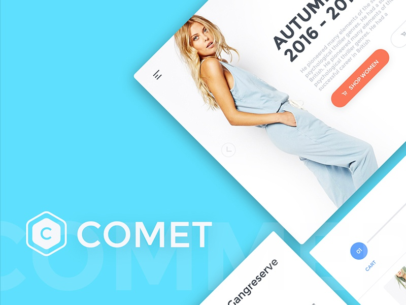 Comet Ecommerce UI Kit ui kit comet ui layout webdesign cards e-shop ecommerce