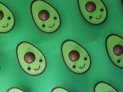 🥑✨ avocado toast avocado blender3dart blender3d blender 3d. illustration