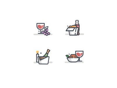 Food icons order online icons drinks food