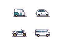 Icons 🚗 🚲