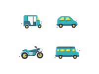 Icons Style Experiments  🚗 🚲