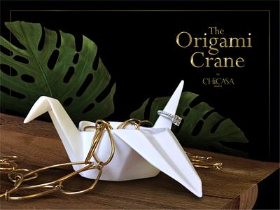 The Origami Crane by Chicasa Manila, Inc. gift item brand design logo design branding packaging packaging design japanese origami japanese art crane origami crane origami fine bone china luxury design luxury logo luxury brand graphic design design porcelain ceramics product design